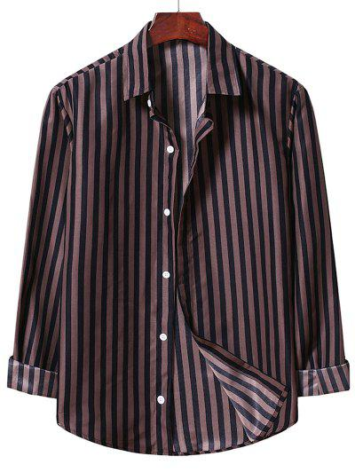Casual Stripe Shirt - Brown Bear M