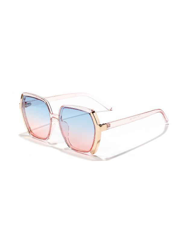 Polygon Shape Large Frame Sunglasses