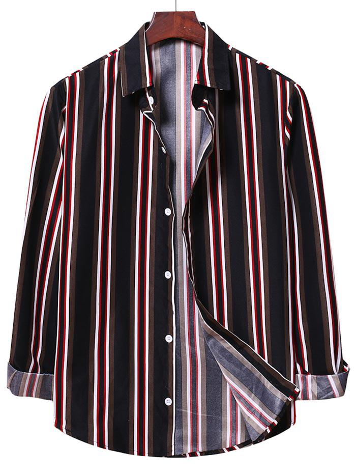 Chemise à Rayure Verticale Bontonnée - ZAFUL - Modalova