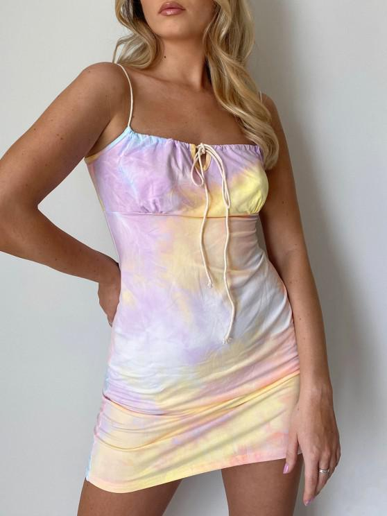 best Tie Dye Bodycon Dress - MULTI L