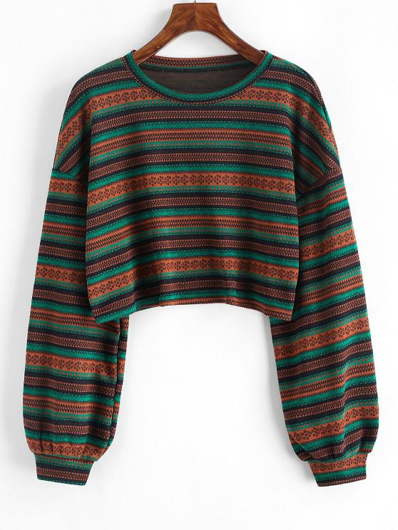 new Ethnic Cropped Knitwear - MULTI M