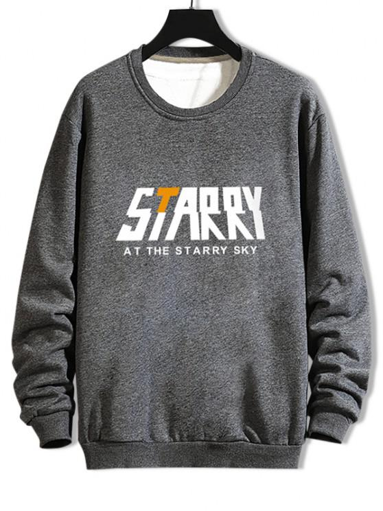 outfits Casual Starry Graphic Crew Neck Sweatshirt - GRAY XL