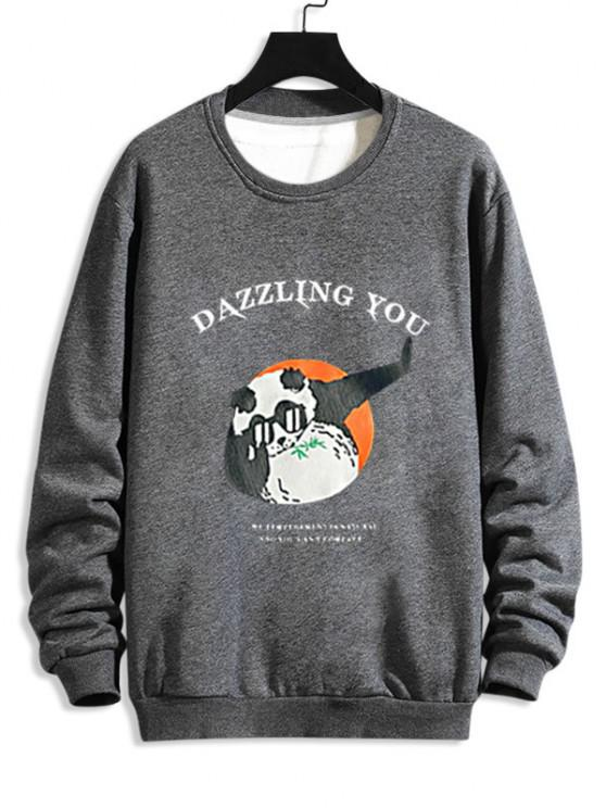 Cartoon Graphic Print Funny Sweatshirt - اللون الرمادي L