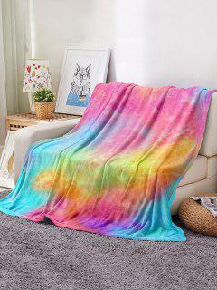 Tie Dye Pattern Soft Flannel Blanket - Multi W31.5 X L47 Inch