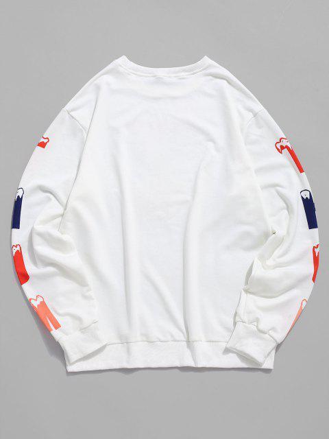 Carta Impressão de Malha de Costela Moletom - Branco S Mobile