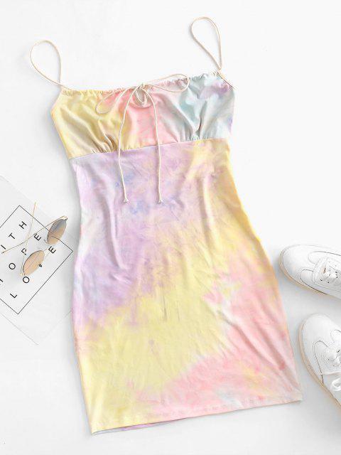 Tie Dye, Bodycon Kleid - Multi L Mobile