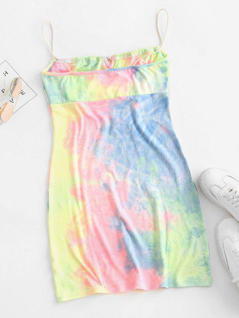 Tie Dye, Bodycon Kleid - Multi-B S Mobile