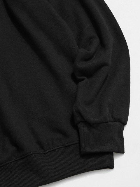 shops Hanzi Graphic Print Rib-knit Trim Sweatshirt - BLACK XL Mobile