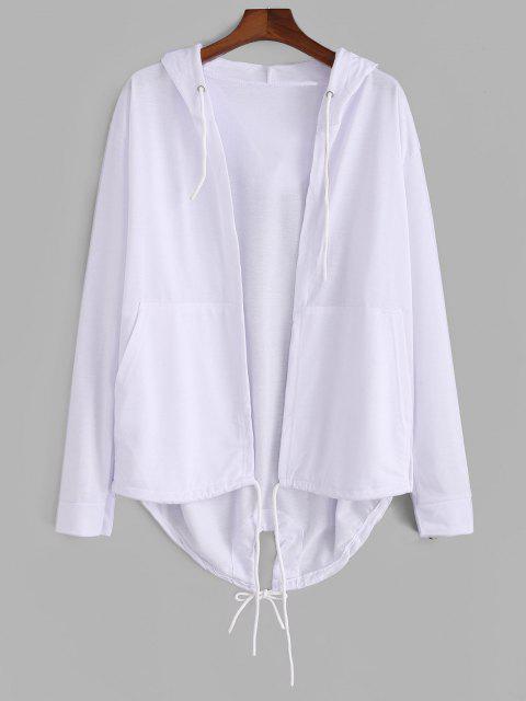 Jaqueta couro sintético mangas compridas aberto afrente - Branco L Mobile