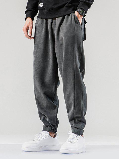 Pantalones Jogger con Cintura Elástica y Bolsillo - Gris Oscuro XL Mobile