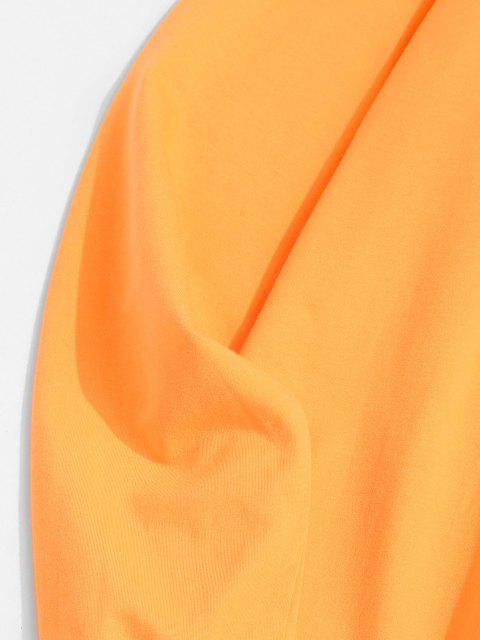 Sweat-shirt Graphique Lune et Soleil à Col Rond - Jaune 2XL Mobile