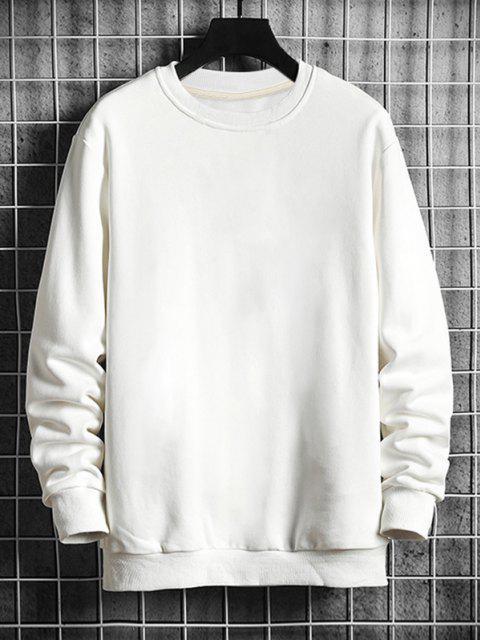 Sweat-shirtOriental CaractèreChinoisGraphiqueImprimé - Blanc XL Mobile