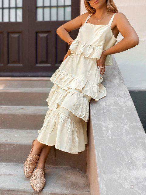 ZAFUL Vestido de Duas Peças de Vestido Plissado - Damasco M Mobile