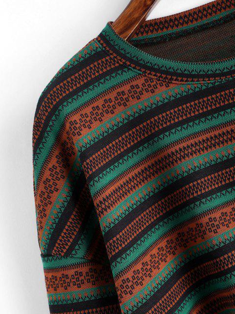 Jersey Tejido Corta Abotonada Étnico - Multicolor M Mobile