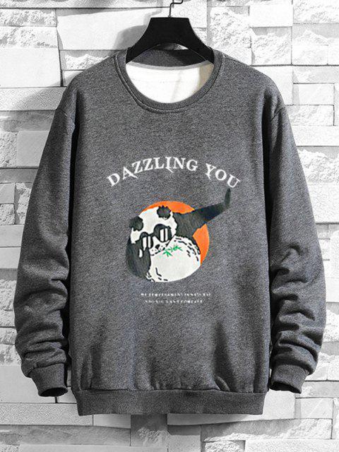 fancy Cartoon Graphic Print Funny Sweatshirt - GRAY L Mobile