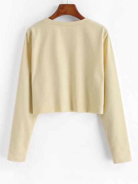 ZAFUL Sweat-shirt Court Renaissance Imprimé - Abricot L Mobile