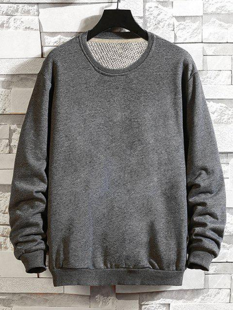 fancy Pure Color Drop Shoulder Crew Neck Sweatshirt - GRAY 2XL Mobile