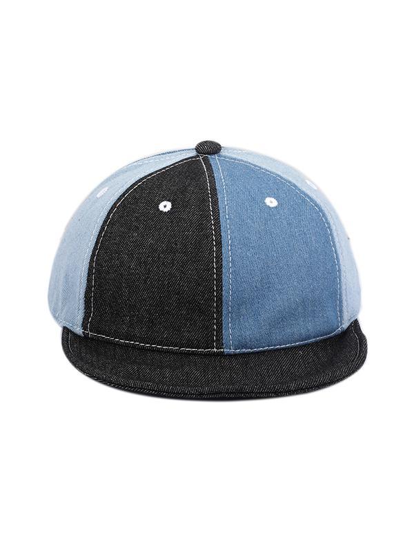 Colorblock Denim Baseball Cap