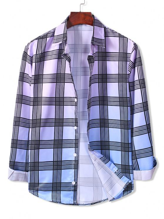 Camisa Ombre com Botão Xadrez - Multi-A S