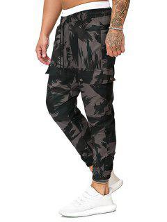 Pantalon Cargo Décontracté Camouflage Imprimé Avec Poches - Vert Camouflage 2xl