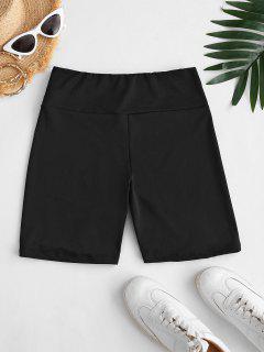 Leggings Cortos Cintura Alta - Negro S