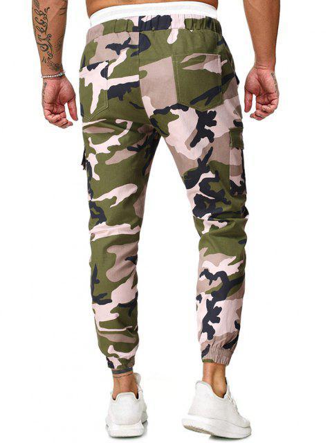 Pantalones de Carga con Cordón con Estampado de Camuflaje en - Verde Camuflaje M Mobile