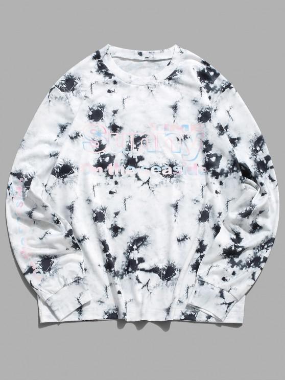ZAFUL Sweat-shirtDécontractéTeinté Graphique à Col Rond - Multi XL