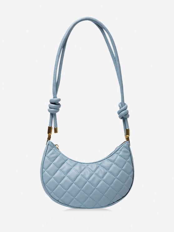 sale Casual Knot Quilted Shoulder Bag - LIGHT BLUE
