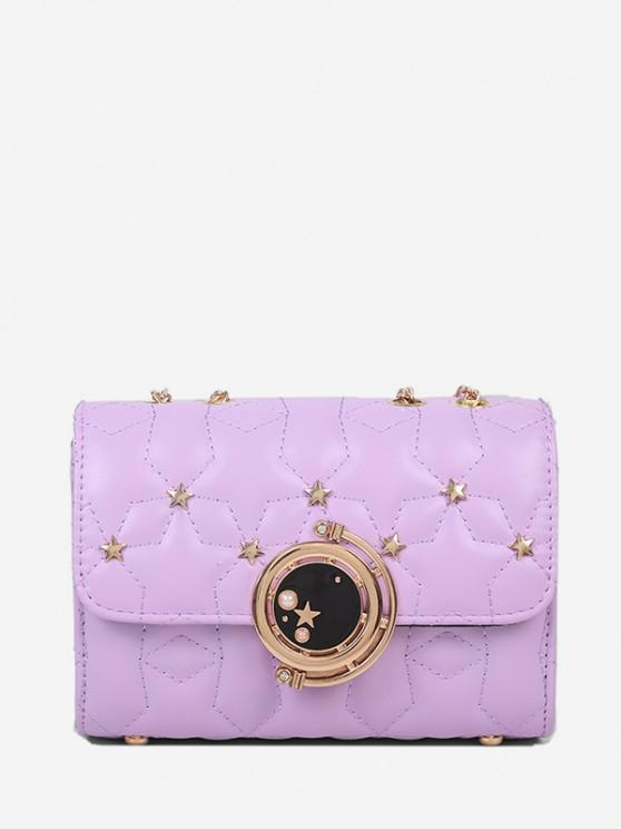 buy Star Chain Rectangle Crossbody Bag - LIGHT PURPLE