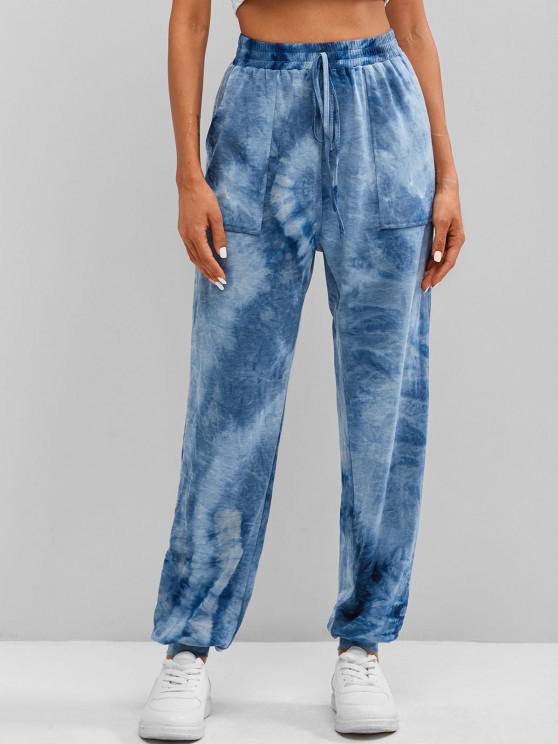 shop ZAFUL Tie Dye Jogger Pants - MULTI-B S