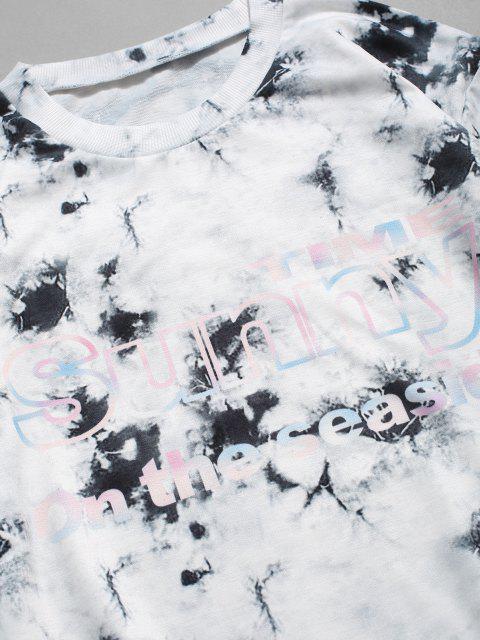 ZAFUL Sweat-shirtDécontractéTeinté Graphique à Col Rond - Multi XL Mobile