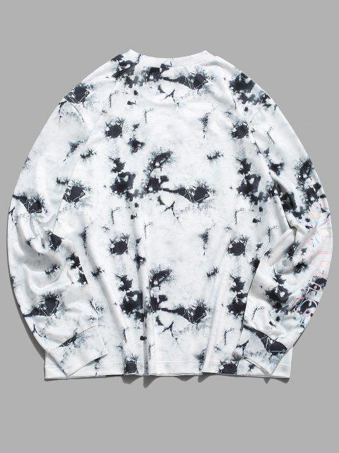 ZAFUL Sweat-shirtDécontractéTeinté Graphique à Col Rond - Multi 2XL Mobile
