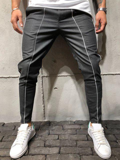 Pantalones Pipos Contraste - Gris 2XL Mobile