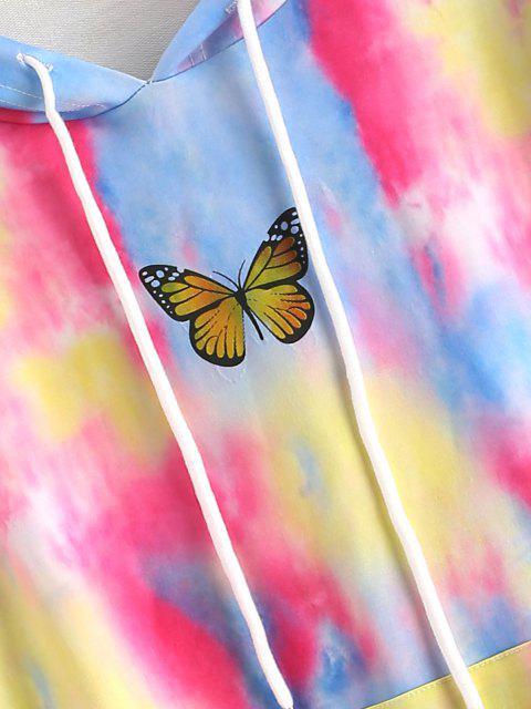 Sudadera con Capucha con Bolsillo de Mariposa - Multicolor M Mobile