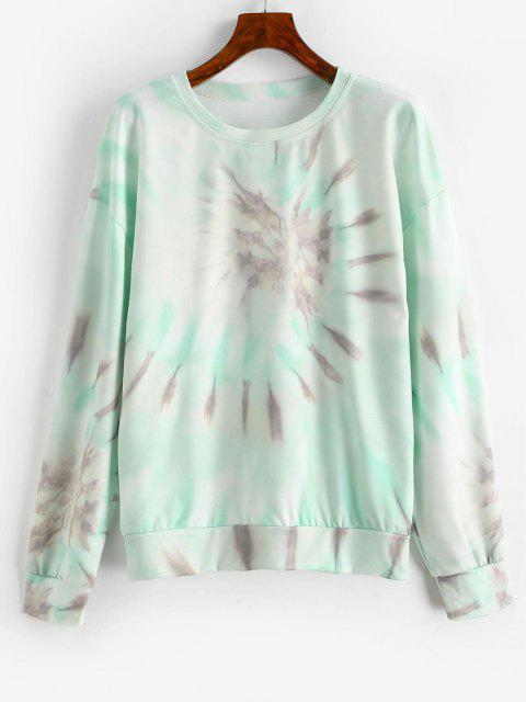 chic Drop Shoulder Pullover Tie Dye Sweatshirt - MULTI-B S Mobile