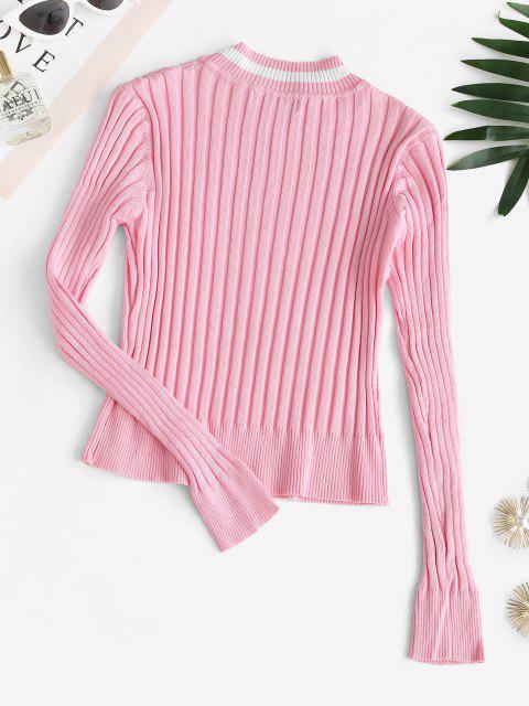 Camisola Confuso com Nervuras - Luz rosa S Mobile
