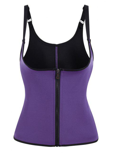 womens Open Bust Hook And Eye Zip Waist Trainer Corset - CONCORD XL Mobile