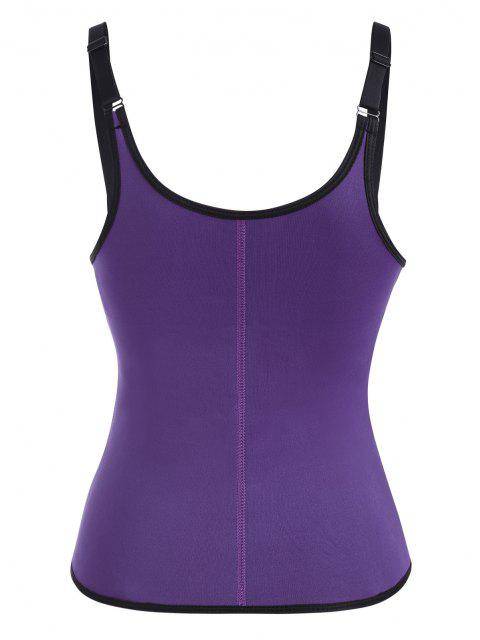 online Open Bust Hook And Eye Zip Waist Trainer Corset - CONCORD M Mobile