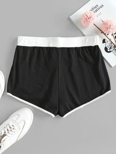 lady ZAFUL Marled High Rise Dolphin Shorts - BLACK S Mobile