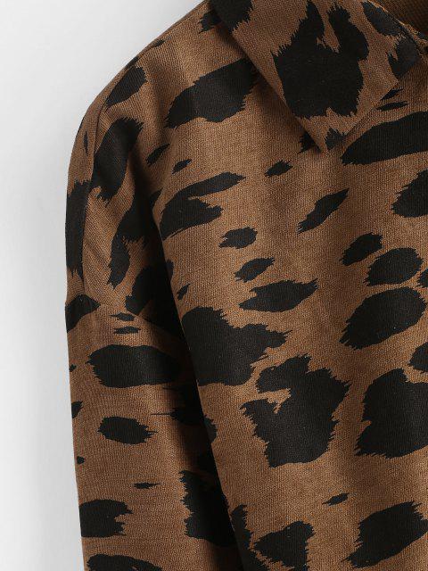 Crop Kordjacke mit Leopardenmuster - Kaffee S Mobile