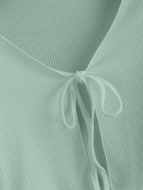 Tee Cortado com Nervuras - Luz verde S Mobile