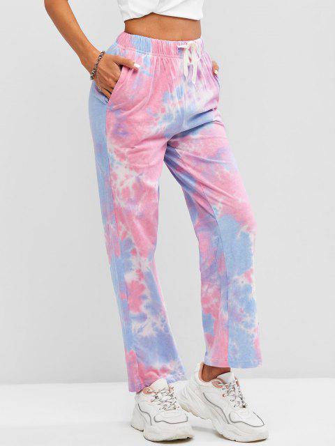 Pantaloni Larghi di Tie-Dye con Coulisse - Multi Colori-A Taglia unica Mobile