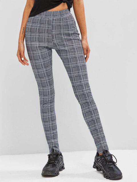 lady Plaid Skinny Pants - BLACK S Mobile