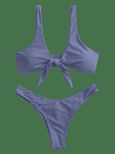 Scrunch Butt Knotted Thong Bikini