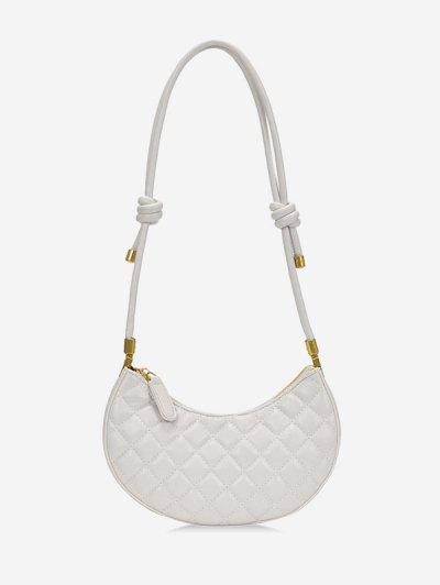 Casual Knot Quilted Shoulder Bag - White