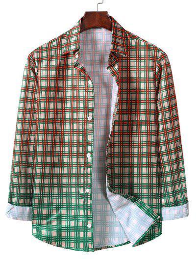 Camisa Xadrez De Mangas Compridas Com Botão - Amêndoa Branqueada L