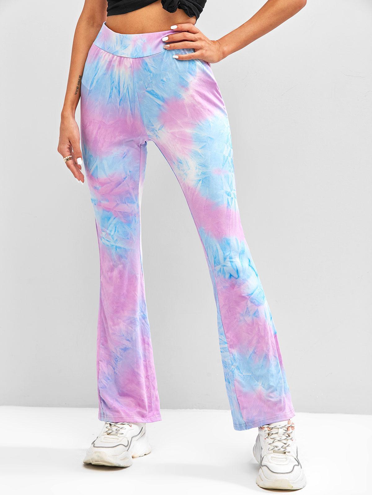 Tie Dye Pull On Bootcut Pants