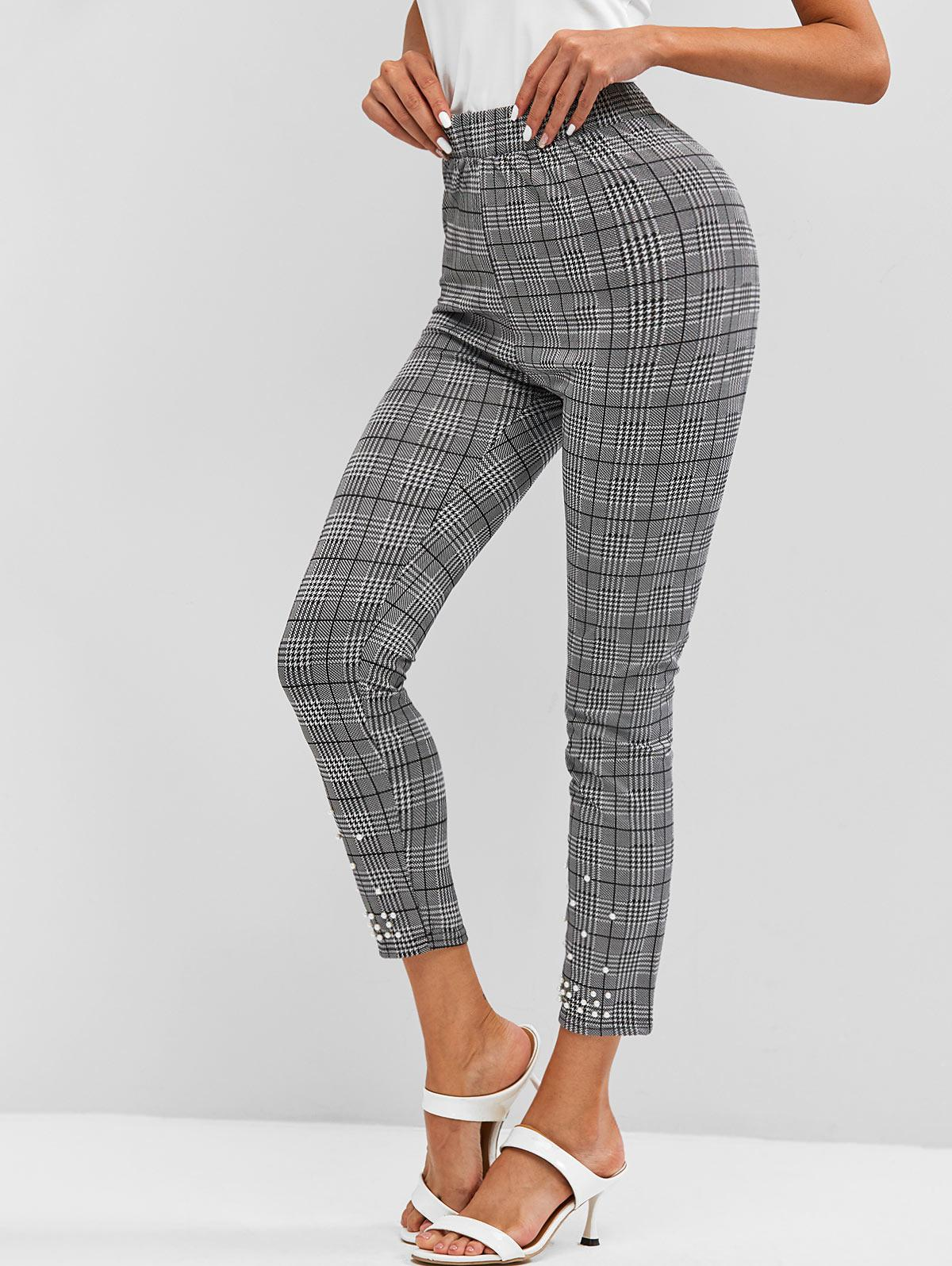 Houndstooth Beading Leggings