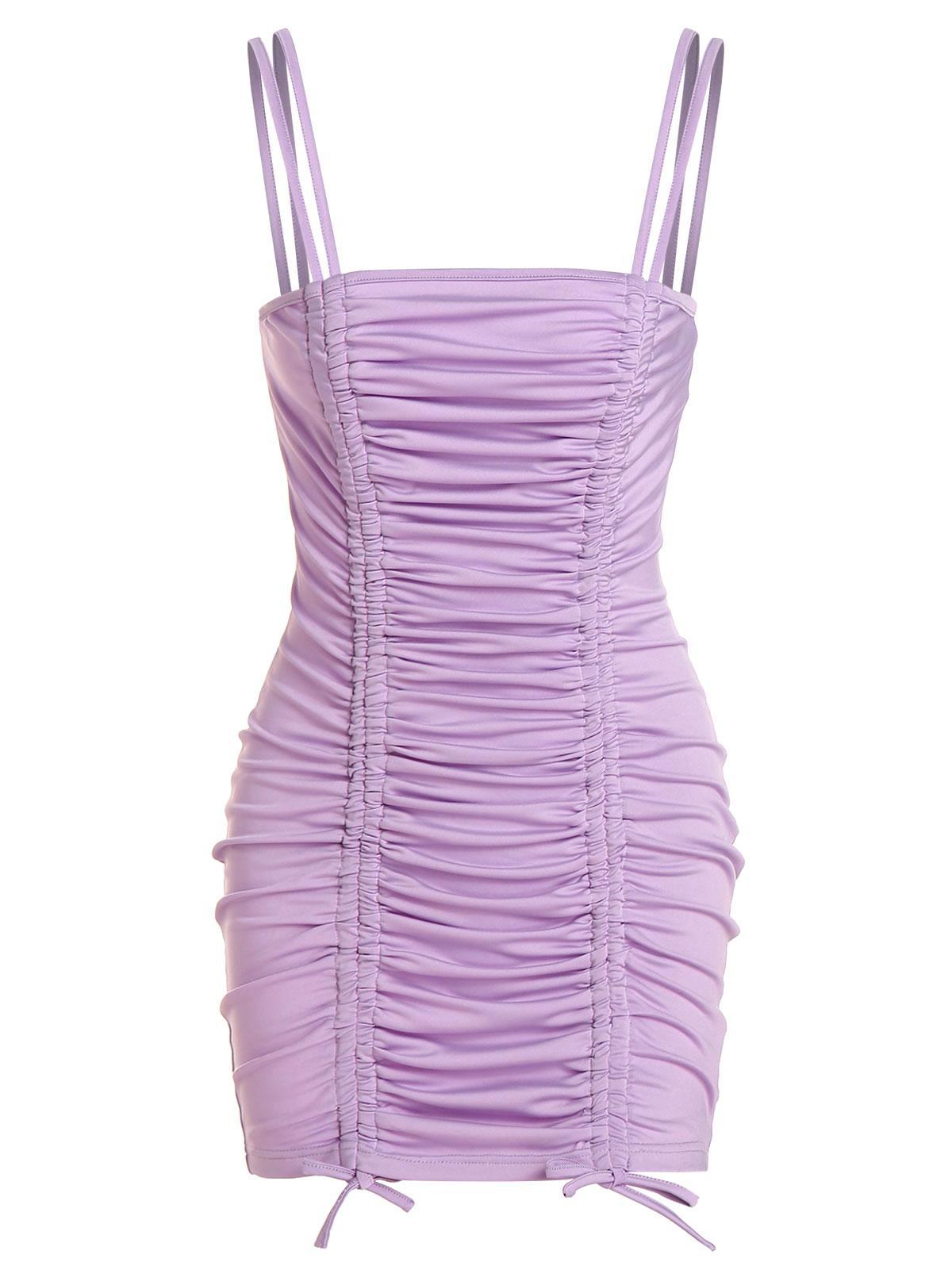 ZAFUL Cinched Mini Bodycon Dress