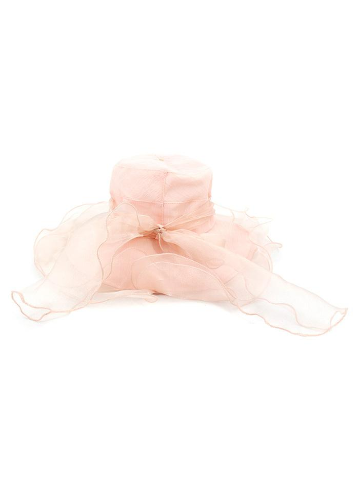 Travel Bowknot Organza British Style Sun Hat